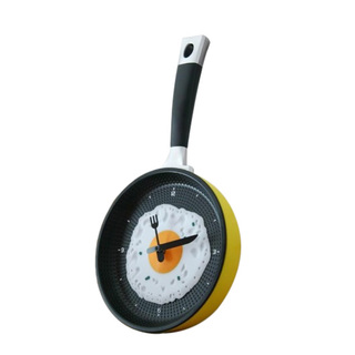 Don't know what to get for a housewarming gift? This fun novelty clock sports a pan-with-a-fried-egg design. It's a great...